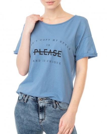 The T-shirt is female TOECN2K28-блакитний/20