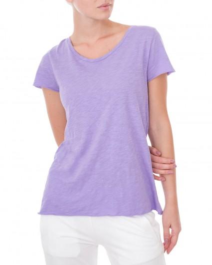 The T-shirt is female 19S-Slub Shirt-сирень/9
