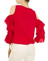 Блуза женская 00004141/8-красн. (3)