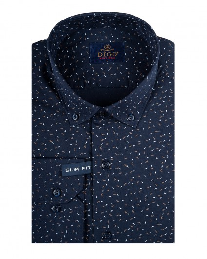 Рубашка мужская 037-5-slim fit/20-21