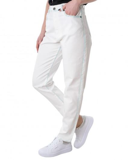 Джинсы женские S21-J137GL/21-3-білий з бірюзовим
