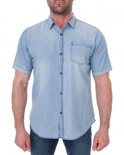 Рубашка мужская 123792-голубой/7