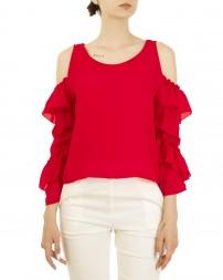 Блуза женская 00004141/8-красн. (1)