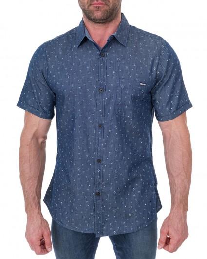Рубашка мужская 132303-синий/7