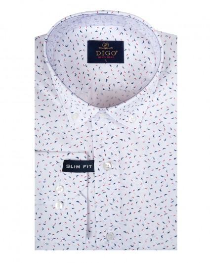 Рубашка мужская 037-8-slim fit/20-21